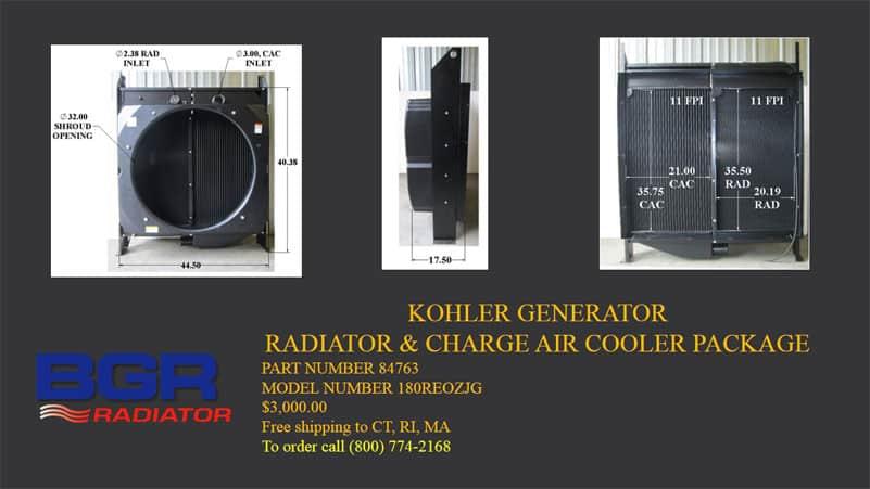 Kohler Generator Radiator/CAC Package