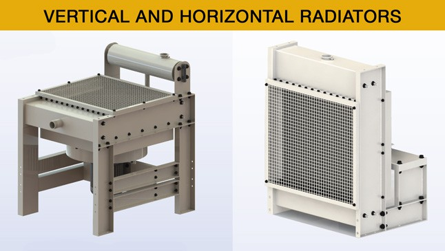 VERTICAL-AND-Horizontal remote radiator